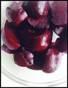 cooked beets ready to be mixed into a salad