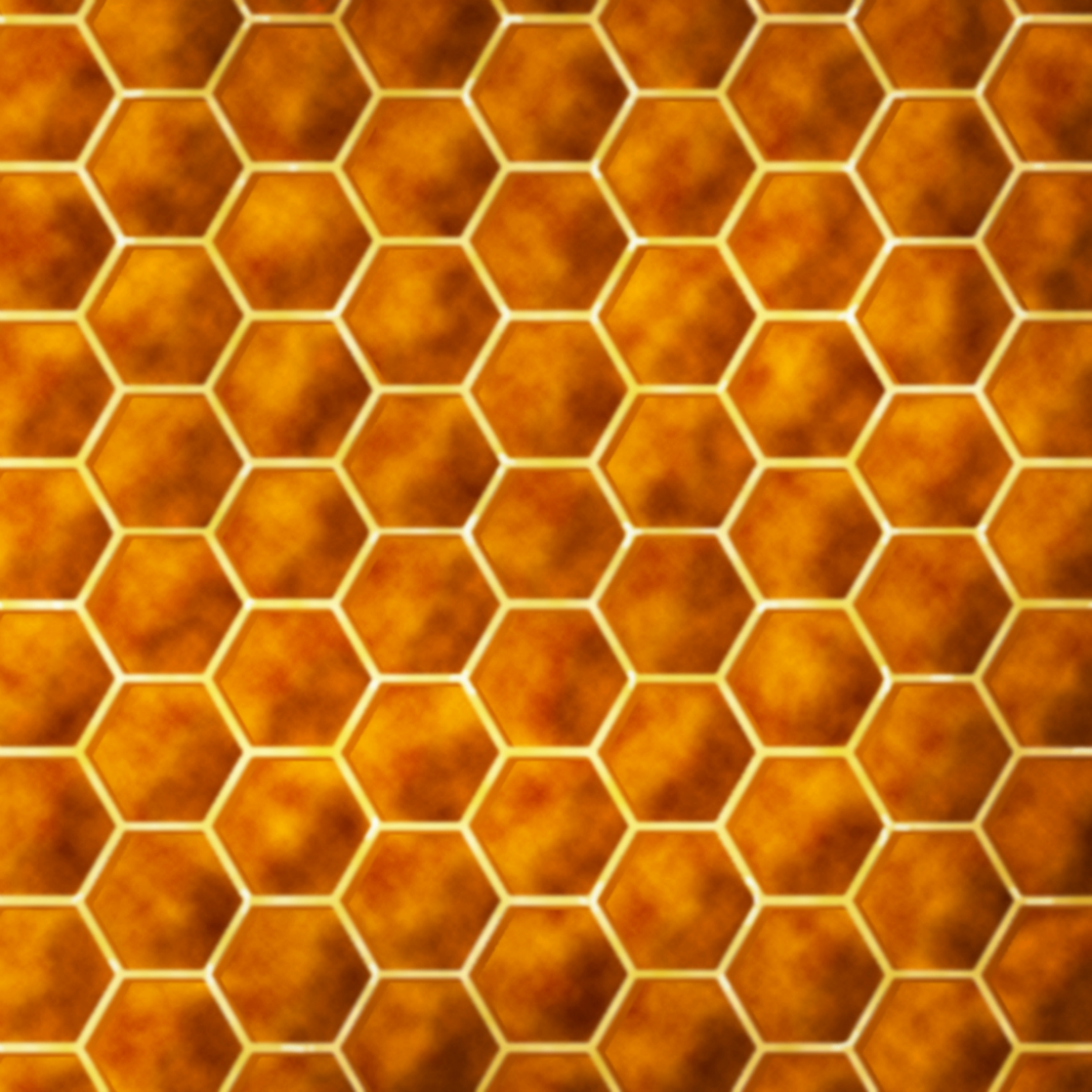 a honeycomb pattern depicting orderly cells, the opposite of cancer